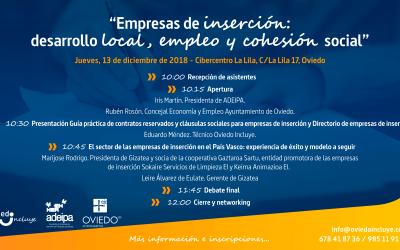"""Jornada Oviedo Incluye: """"Empresas de inserción: herramientas para el desarrollo local, el empleo y la cohesión social"""""""