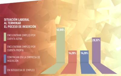 Más del 70% de las personas que finalizaron en 2018 sus procesos de acompañamiento en las empresas de inserción asturianas se integraron en el mercado laboral ordinario.