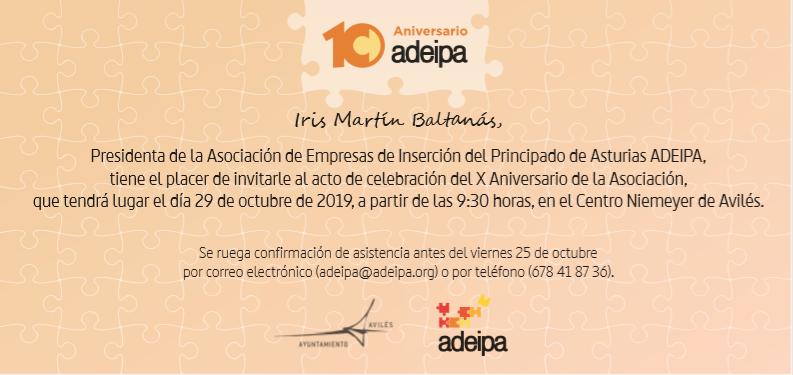 El 29 de octubre celebramos en Avilés nuestro X Aniversario