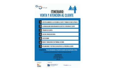 """Formación en Oviedo Incluye: """"Ventas y atención al cliente""""."""