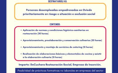 "Itinerario ""Actividades auxiliares de cocina"" Oviedo Incluye. Edición 2"